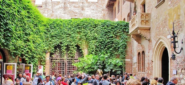 Juliet's house the most known attraction in Verona